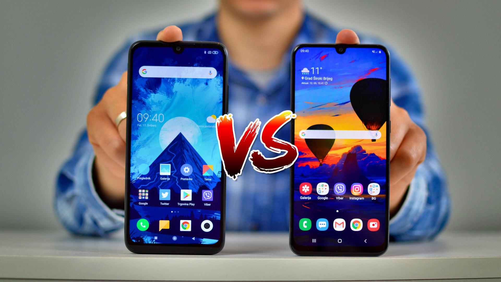 Usporedba Samsung Galaxy A50 vs Redmi Note 7