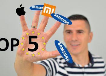 TOP 5 telefona Europa prodaja